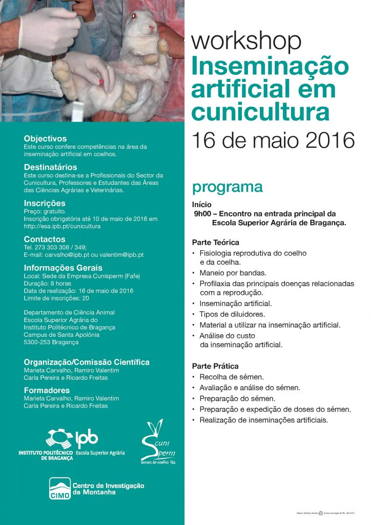 2016 Cartaz Workshop Inseminacao Artificial